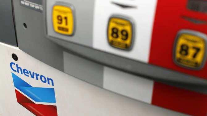 File photo of a Chevron gas pump at a retail gas station in Cardiff