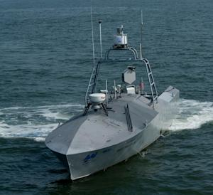 Navy Test-Fires Missiles from Robot Boats
