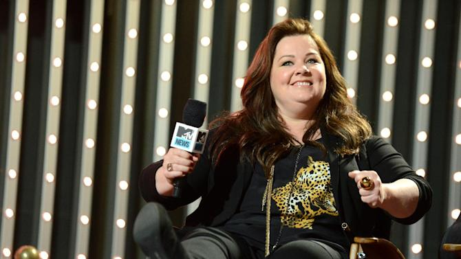 """IMAGE DISTRIBUTED FOR MTV- Cast member of """"The Heat"""" actress Melissa McCarthy is seen at """"The MTV Movie Awards Sneak Peek Week"""" on Thursday, April 11, 2013, in Universal City, Calif. (Photo by Jordan Strauss/Invision for MTV/AP Images)"""