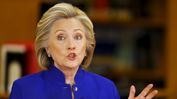 Hillary Clinton campaigns for the 2016 Democratic presidential nomination in Las Vegas