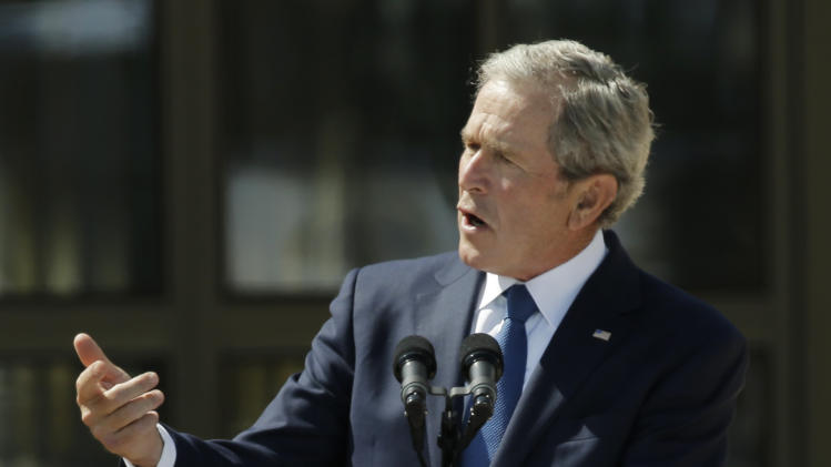 Presidents praise George W. Bush at new library