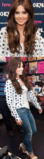 Cheryl Cole does prints and denim for A Million Lights album signing in Newcastle