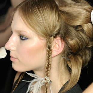 Just Cavalli SS12: Backstage S/S12: In detail Plaits: Hair Ideas: Beauty