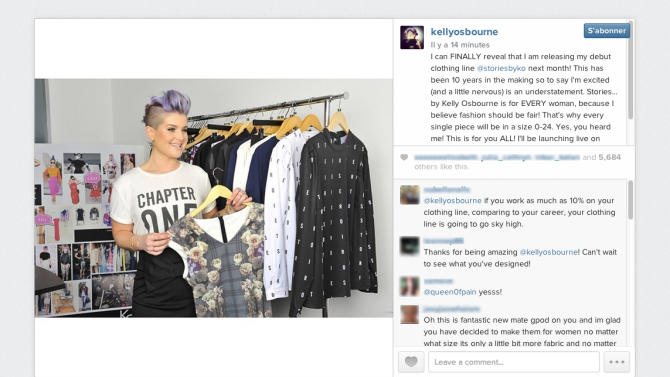 Kelly Osbourne announced her first ready-to-wear collection on Instagram.