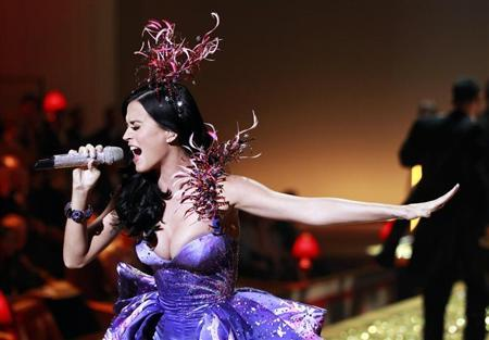 Singer Katy Perry performs during the Victoria's Secret Fashion Show at the Lexington Armory in New York