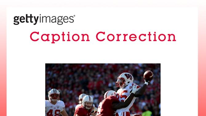 CAPTION CORRECTION: The 99th Rose Bowl Game - Wisconsin v Stanford