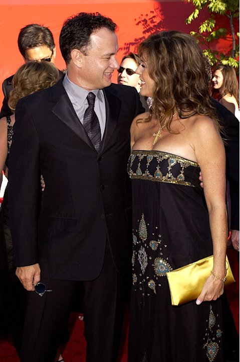 Tom Hanks and wife Rita Wilson at The 54th Annual Primetime Emmy Awards.