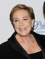 FILE - This Nov. 1, 2011 file photo shows Julie Andrews at the Princess Grace Foundation Awards gala in New York. The Oscar and Tony Award-winning actress said that a botched operation to remove non-cancerous throat nodules in 1997 hasn&#39;t gotten better. It has permanently limited her range and her ability to hold notes. &quot;The operation that I had left me without a voice and without a certain piece of my vocal chords, said Andrews, who starred in such quintessential stage and film musicals as The Sound of Music, My Fair Lady and Mary Poppins. (AP Photo/Evan Agostini, file)