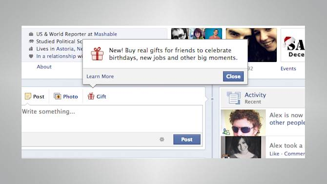 How to Buy Facebook Gifts for Friends
