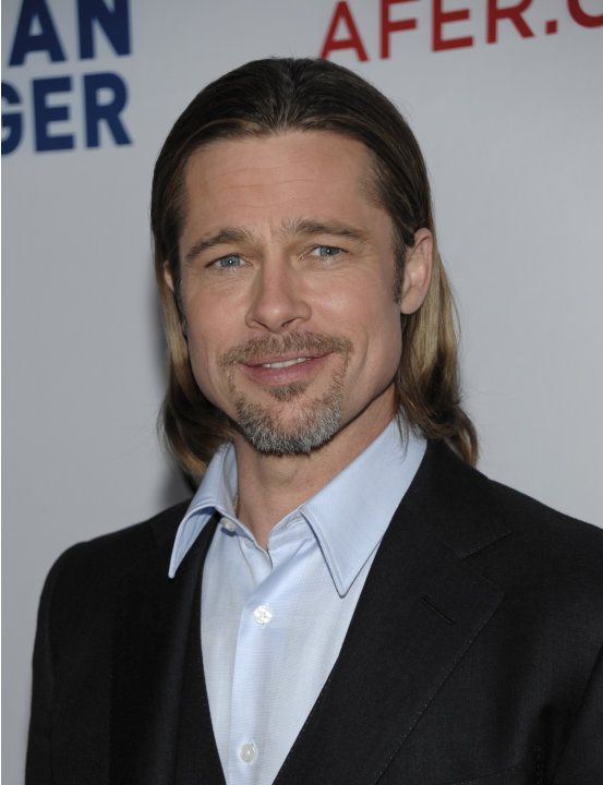 "FILE In this Saturday, March 3, 2012 file photo, actor Brad Pitt arrives at the Los Angeles premiere of the play ""8"" in Los Angeles. The star-studded West Coast performance of the gay marriage play ""8"