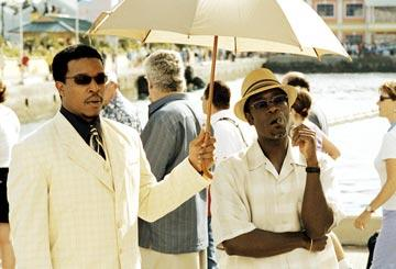 Russell Hornsby and Don Cheadle in New Line Cinema's After the Sunset