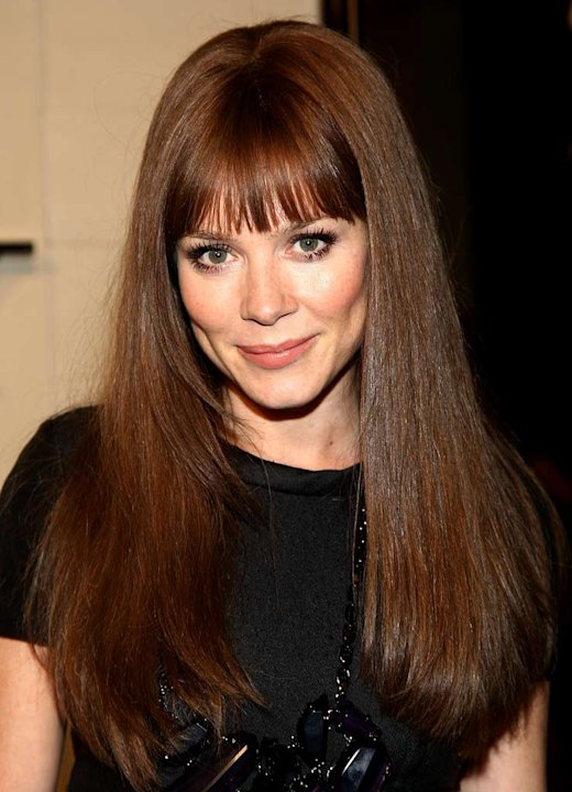 Anna Friel arrives at the grand re-opening of the Burberry Beverly Hills store on October 20, 2008 in Beverly Hills, California.
