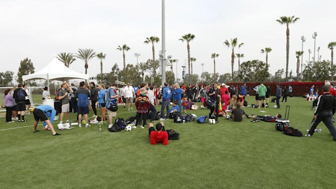 Atmosphere at the LAFEST LA Film and Entertainment Soccer Tournament, on Sunday, March 24, 2013 in Carson, California. (Photo by Todd Williamson/Invision for THR/AP Images)