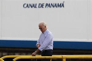 U.S. Vice President Joe Biden walks on the Miraflores …