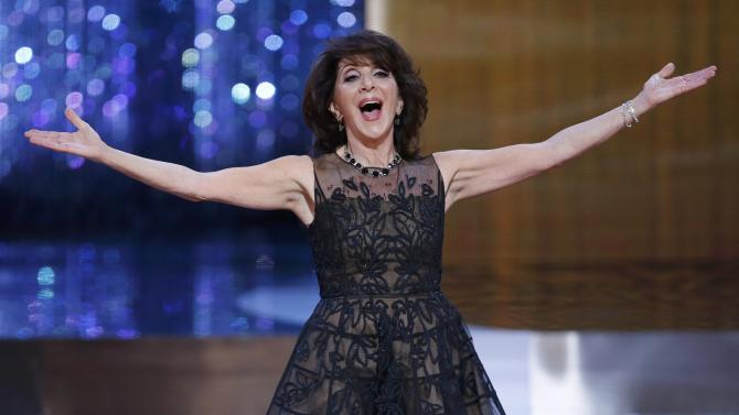 Host Andrea Martin opens the show at the 2015 Canadian Screen Awards in Toronto