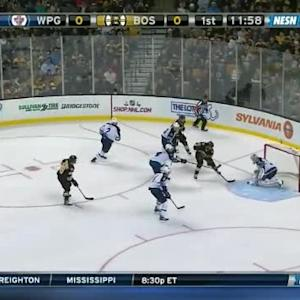 Michael Hutchinson Save on Brad Marchand (08:04/1st)
