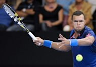 France&#39;s Jo-Wilfried Tsonga returns the ball to his Italian opponent Andreas Seppi during their ATP Moselle Open final tennis match in Metz, eastern France. Tsonga comfortably defended his Metz title with a 6-1, 6-2 win over Italian fifth seed Andreas Seppi