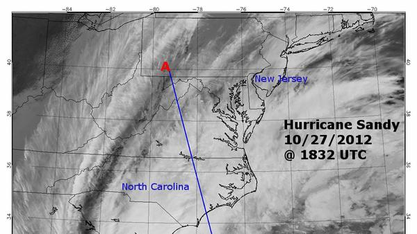 Hurricane Sandy Profiled in New Side-View Image