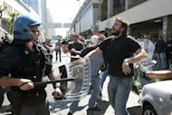 <p>Demonstrators clash with riot police in Naples last month during a protest against the government's austerity measures. New French President Francois Hollande travels to Rome on Thursday for talks with Mario Monti ahead of a key four-way summit, as Italy struggles to shake off rumours it may be heading for a bailout.</p>