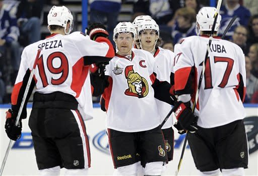 Spezza, Anderson key Ottawa's win over Tampa Bay