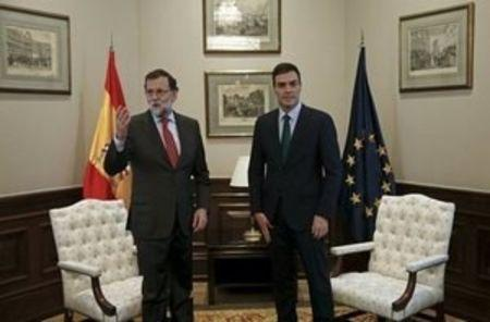 After short, tense meeting, Spain's Socialist head rejects backing Rajoy