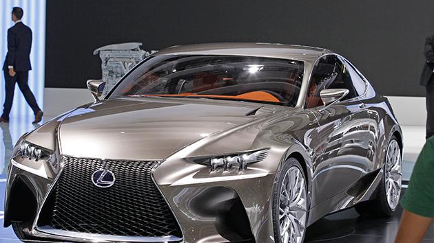 The Lexus LF CC concept car is displayed on the eve of the opening of the Paris Auto Show.