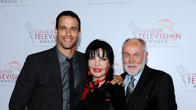 (L-R) Ben Pamies, Loreen Arbus, and Robert David Hall arrive at the 34th College Television Awards presented by the Academy of Television Arts & Sciences Foundation at the JW Marriott Los Angeles L.A. Live on April 25, 2013 in Los Angeles, California. (Photo by Scott Kirkland/Invision for the Academy of Television Arts & Sciences/AP Images)