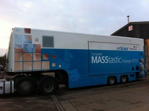 Mobile Laboratory on European MASStastic Voyage Tour to Roll in 2013 with Analytical Tools from AB SCIEX, Phenomenex and Peak Scientific