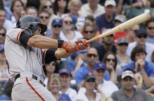 Pagan's single lifts Giants to 7-5 win over Cubs