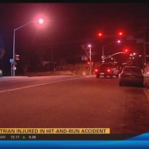 Pedestrian injured in hit-and-run accident