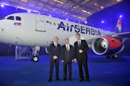 From left to right: Dane Kondic, CEO at Air Serbia, James Hogan, President and CEO at Etihad Airways, and Aleksandar Vucic, First Deputy Prime Minister of Serbia