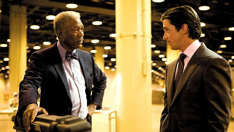 The Dark Knight Production Stills 2008 Morgan Freeman Christian Bale