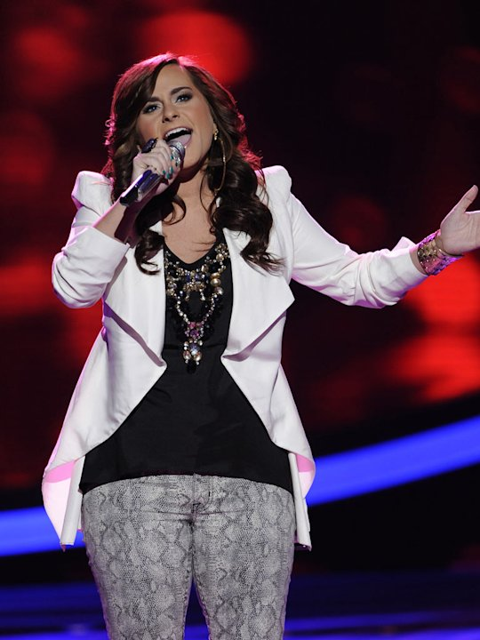 "Skylar Laine performs ""Where Do Broken Hearts Go"" by Whitney Houston on American Idol."""