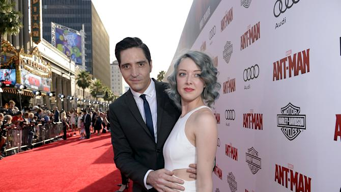 "Cast member David Dastmalchian and wife artist Evelyn Leigh pose at the premiere of Marvel's ""Ant-Man"" in Hollywood"