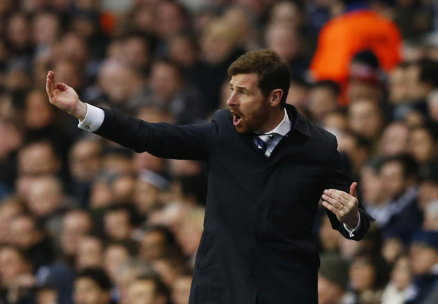 Tottenham Hotspur's manager Villas Boas reacts during their English Premier League soccer match against Arsenal at White Hart Lane in London