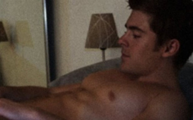 from Brayden zac efron naked fakes on blue bed