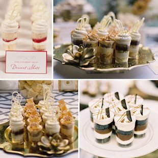 bridal guide wedding cake alternatives dessert shots