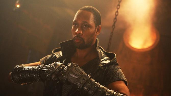 """This image released by Universal Pictures shows actor-director RZA in a scene from """"The Man With the Iron Fists.""""  (AP Photo/Universal Pictures)"""