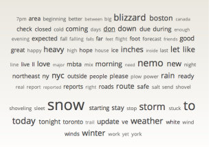 Nemo Brings Snow and Inspires Social Media Conversation image Nemo Words