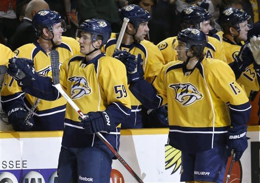 Weber gives Predators 4-3 win over Red Wings in OT