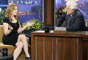 Jenna Fischer and Jay Leno …