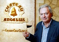 Hubert de Bouard de Laforest, owner of the Chateau Angelus in Saint-Emilion, in the famous Bordeaux wine growing region, southwestern France, posing in his cellar in 2007. Two wines that will definitely be more expensive over the years to come are Chateau Pavie and Chateau Angelus, leading estates in the Saint-Emilion region of Bordeaux