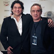 Cooking schools are all the rage among Peru's young people, with many dreaming of reaching the dizzying heights of the country's best known chef and culinary ambassador Gaston Acurio (L), who is seen here in June 2012 with Spain's Ferran Adria