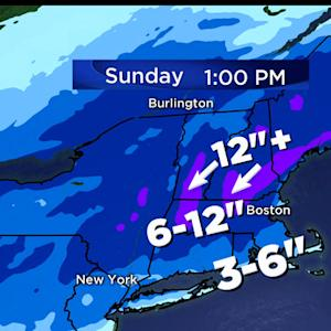 Northern New England to see over a foot of snow