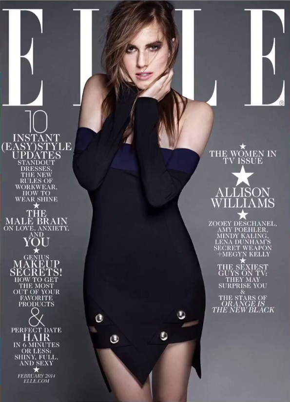 allison williams elle magazine cover