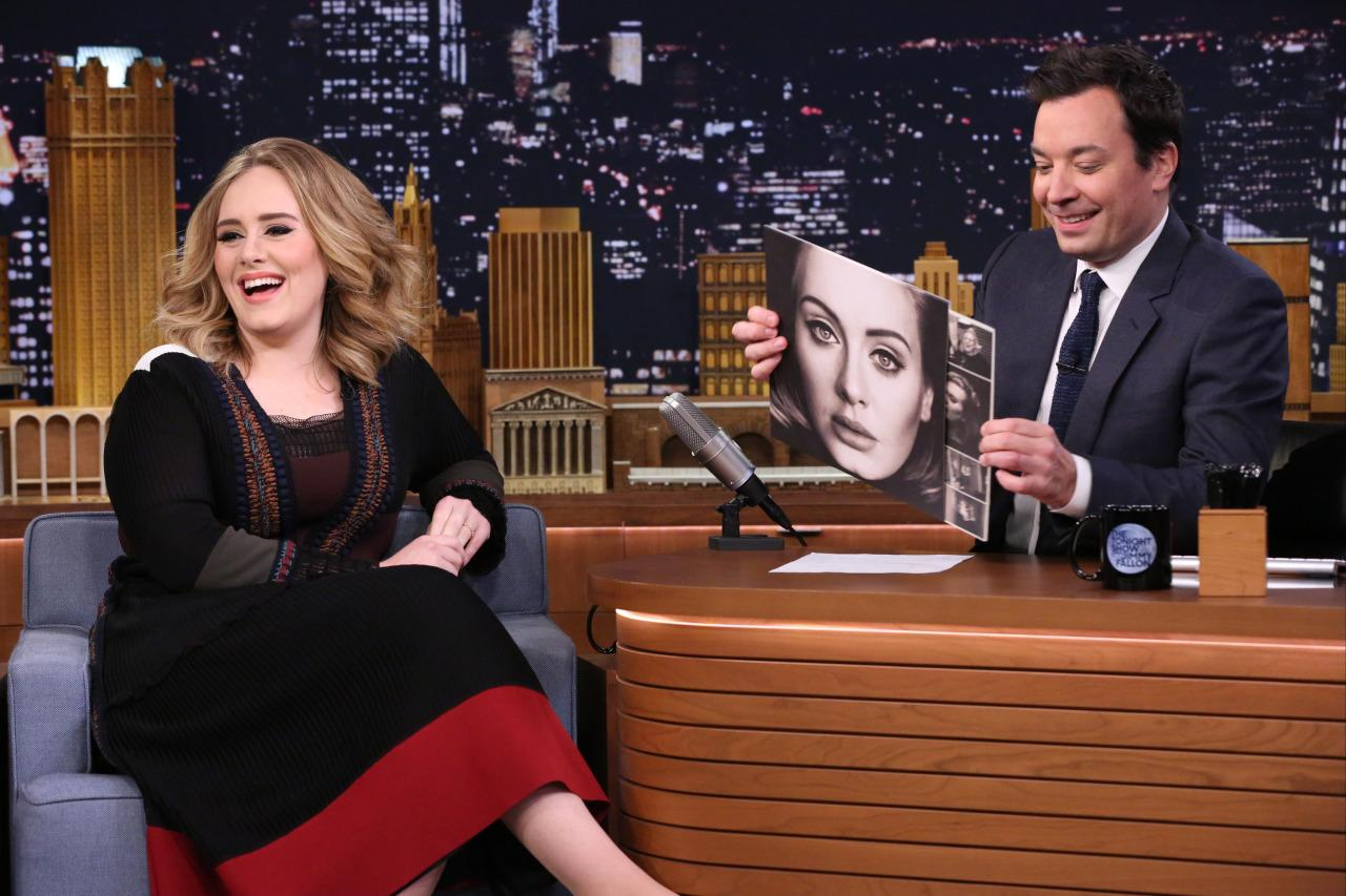 Adele Lied to Jimmy Fallon in a Valentino Dress