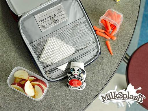 MilkSplash(TM) does not require refrigeration after opening and is portable. Its small bottle easily fits within a lunchbox for a delicious treat at school. Visit milksplash.com.