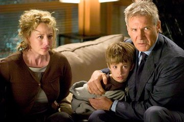 Virginia Madsen , Jimmy Bennett and Harrison Ford in Warner Bros. Pictures' Firewall