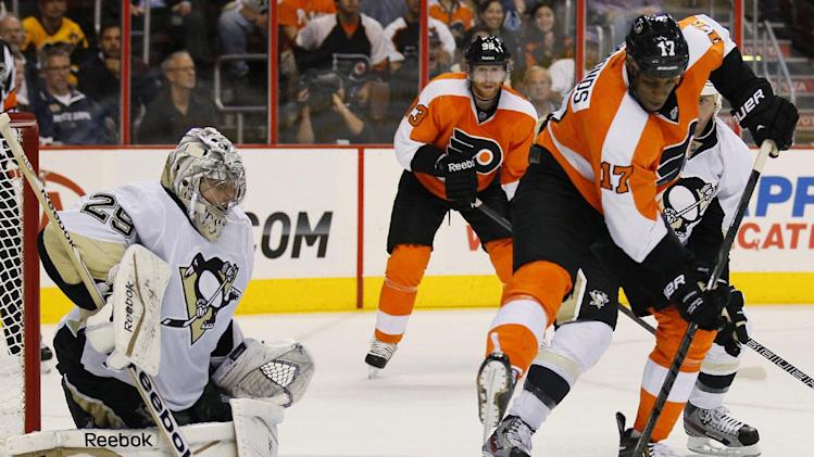 Crosby, Fleury lift Penguins past Flyers, 4-1