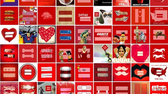 The Human Rights Campaign's flickr page reveals all the ways in which people have interpreted the marriage equality symbol.